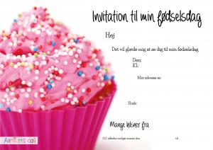 Pink_cupcake_børnefødselsdags_invitation_højformat