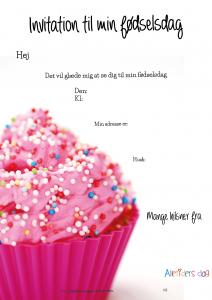 Pink_cupcake_børnefødselsdags_invitation_tværformat