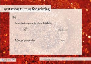 Rød_glimmer_fødselsdagsinvitation_tværformat