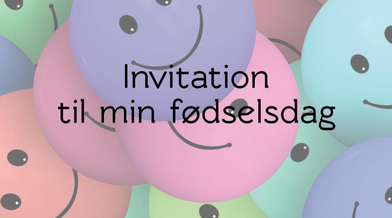 smiley Invitation til fødselsdag