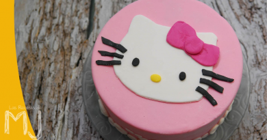 lyserrød hello kitty kage, hurtig kage med hello kitty, udstyr til hello kitty kage,Hello Kitty figur i fondant