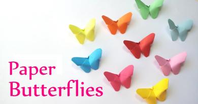 dekorationer til børnefødselsdage, sommer fødselsdag for børn, papir sommerfugle