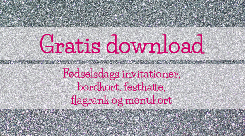 sølv glimmer, disko fødselsdag, fødselsdag disko, glimmer tema, gratis bordkort, gratis download invitation, invitation dowmload, bordkort download