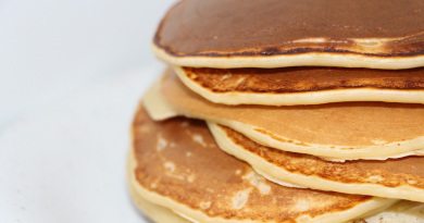 Amerikanske pandekager, små Amerikanske pandekager, mad til børnefødselsdag, børnefødselsdag,