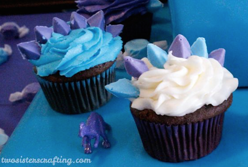 Dinosaurus-cupcake