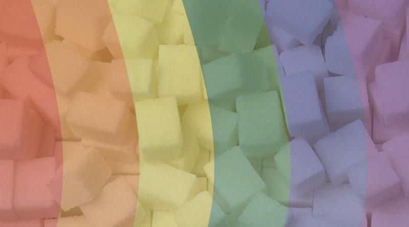 lav farvet sukker, hjemmelavet farvet sukker, farvet sukker