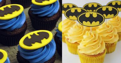 Batman-fødselsdag-kage