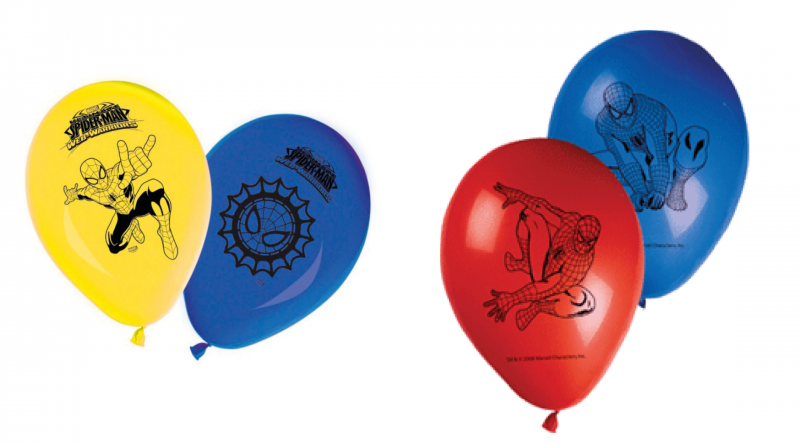 Spiderman-balloner-børnefødselsdag