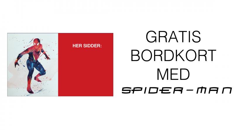Spiderman-gratis-bordkort