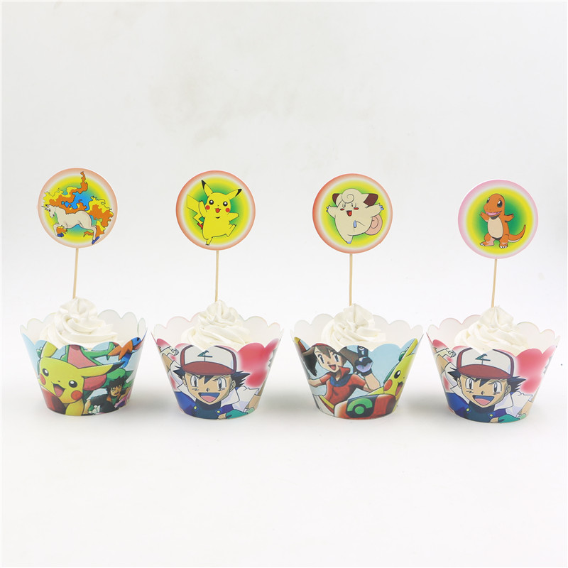 birthday-party-supplies-cake-cupcake-12wrappers-and-12toppers-cute-pokemon-pikachu-pattern-for-children