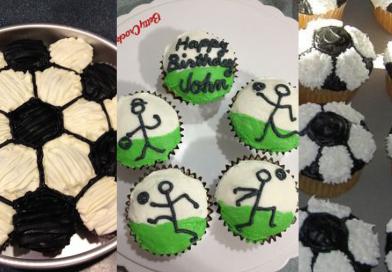 4 Nemme Fodbold muffins