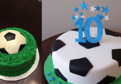3 nemme fodbold kager til fødselsdagen