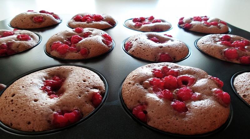 Muffins med hindbær