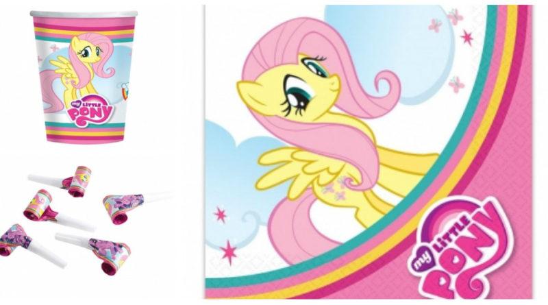 Borddækning til My little Pony fødselsdag