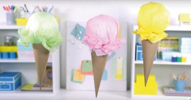dekorationer til børnefødselsdage, sommer fødselsdag for børn, kæmpe isvafler