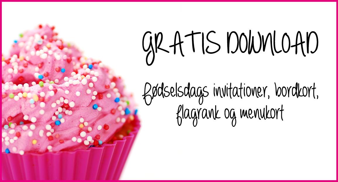 Download: Tilbehør til Pink Cupcake fødselsdag - Alletiders dag