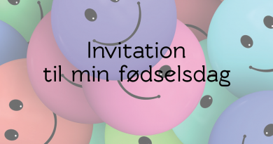 smiley Invitation til fødselsdag