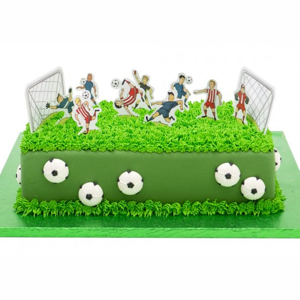 fodbold fødselsdag, fodboldkage, spiseligt papir til fodbold kage, fødselsdag med fodbold tema, fodbold tema fødselsdagskage, kager med fodbold, fodbold børnefødselsdag, fodboldbane kage