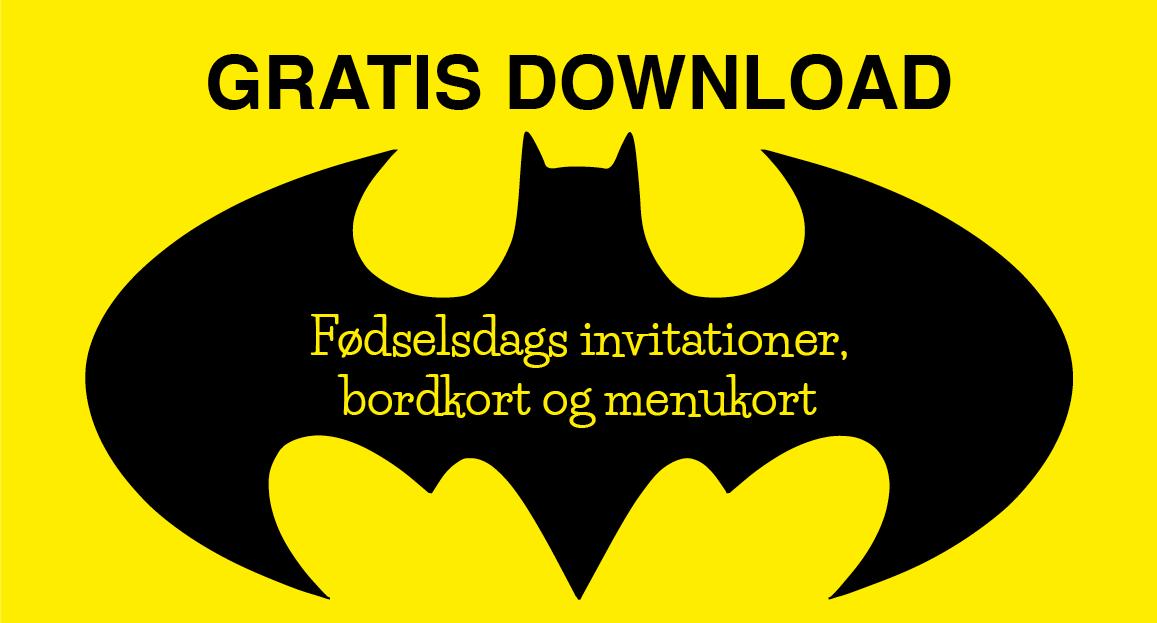 Download: Tilbehør til Batman fødselsdag - Alletiders dag