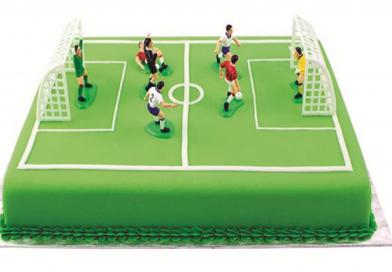 Tilbehør til fodbold kager / fodbold fødselsdag
