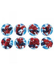 spiderman sukkerprint muffins spiderman spiseligt billede spiderman kage