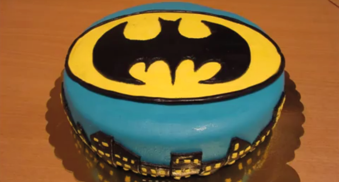 Diy Batman Kage Med Fondant Alletiders Dag