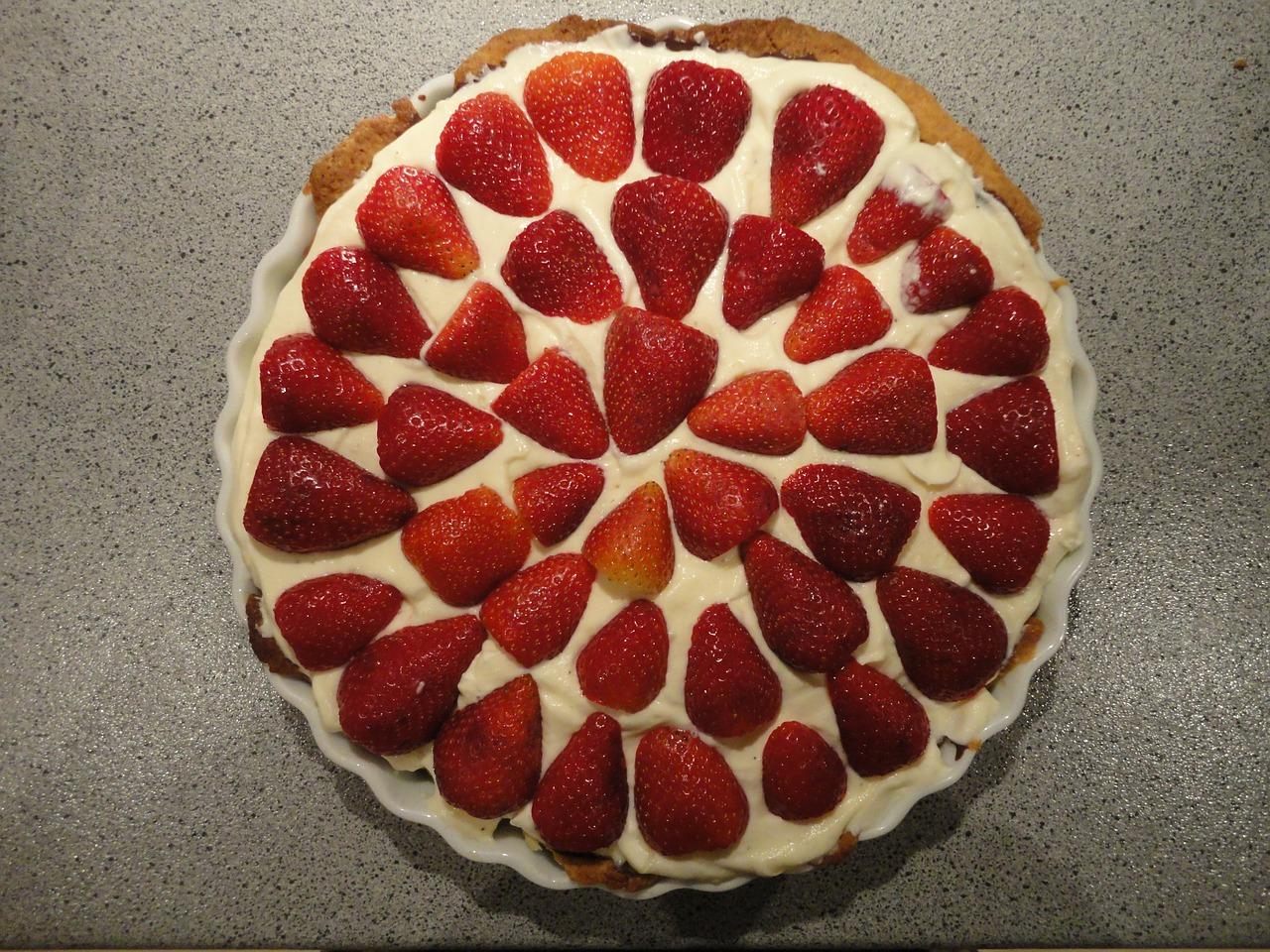 Børnefødselsdag Inspiration jordbærtærte opskrift alletidersdag børnefødselsdag inspiration til