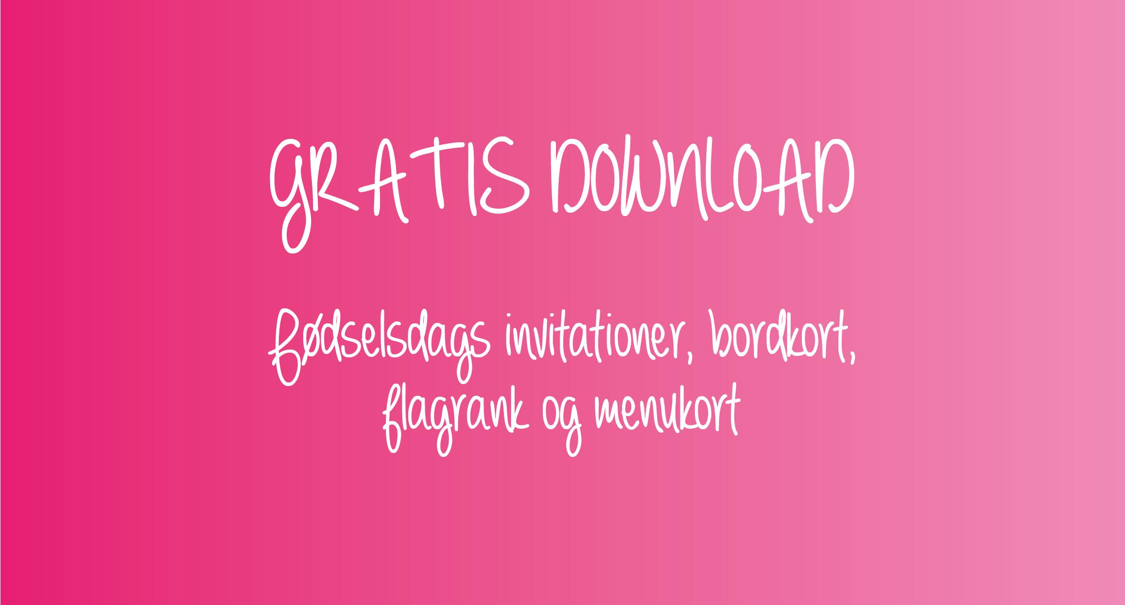 b444dfdc Gratis download: Pink børnefødselsdag - Alletiders dag