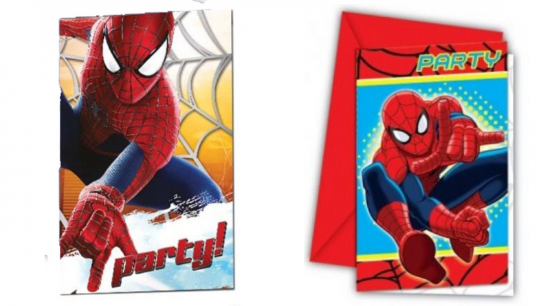 spiderman invitationer, spiderman fødselsdag, fødselsdag med spiderman, fødselsdagsinvitationer med spiderman