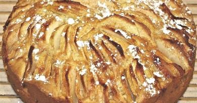 Lækker æblekage