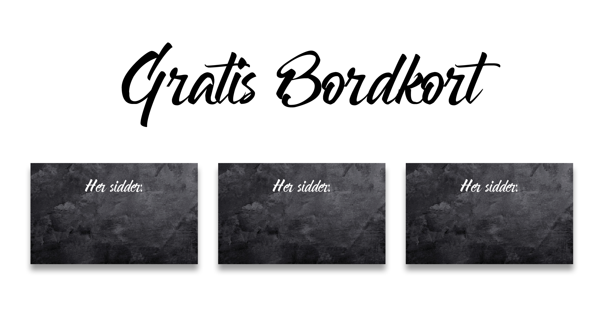 design bordkort gratis