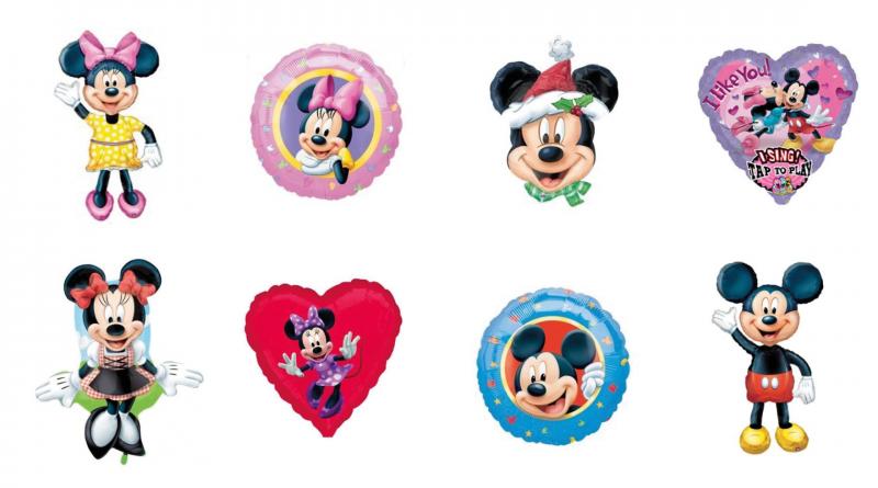 mickey mouse balloner, minnue mouse ballon, balloner med mickey mouse, fødselsdagsballoner, fødselsdagsballoner mickey mouse