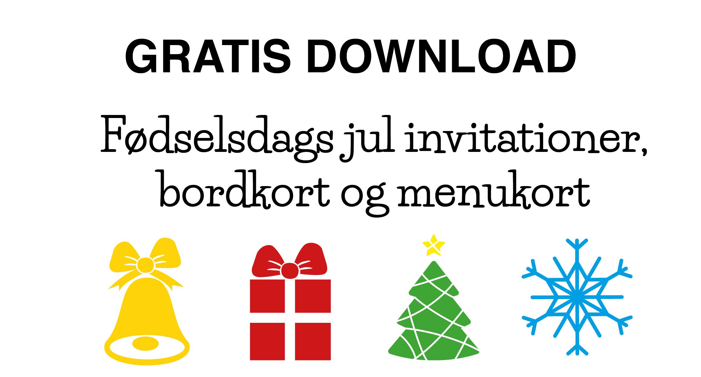 Gratis download: Jule børnefødselsdag - Alletiders dag