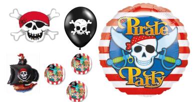 pirat ballon, ballon piret, jake og piraterne ballon, folieballon pirat, sørøver ballon, sørøvet folieballon,