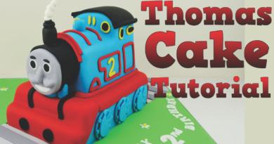 thomas tog kage, guide til thomas tog, DIY thomas tog, thomas tog i fondant