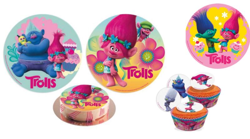 trolls kageprint, trolls sukkerprint, trolls kage, trolls spiseligt papir, trolls muffins, trolls muffinsprint, trolls tema fest, trolls kager, trolls fødselsdag, trolls børnefødselsdag, trolls fest, alletiders dag