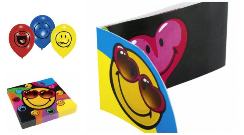 borddækning til smiley fødselsdag, emoji fødselsdag, emoji temafest, emoji fest, smiley fest, smiley temafest, smiley festartikler, emoji festartikler, smileys fødselsdag, farverig fødselsdag, inspiration til fødselsdag, alletiders dag