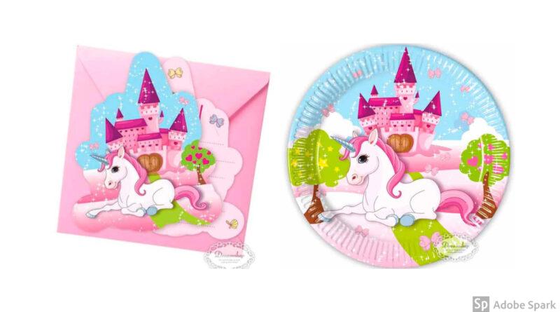 Borddækning til unicorn fødselsdag