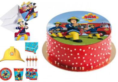 Brandmand Sam børnefødselsdag – nem kage og borddækning