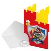 Ridder fødselsdag ridder invitationer