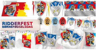 ridder fødselsdag pynt ridder flagbanner ridder balloner