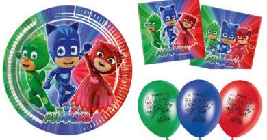 pj masks fødselsdag, pj masks fødselsdagsfest, pj masks borddækning, pj masks temafest, pj masks børnefødselsdag, superhelte fødselsdag, superhelte børnefødselsdag, inspiration til børnefødselsdag, alletiders dag