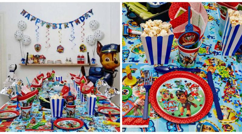 Paw Patrol børnefødselsdag – bordpynt og kagepynt