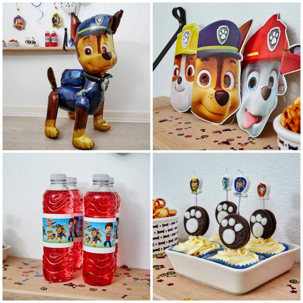 paw patrol bordpynt paw patrol børnefødselsdag paw patrol temafest fødselsdag paw patrol bordpynt balloner