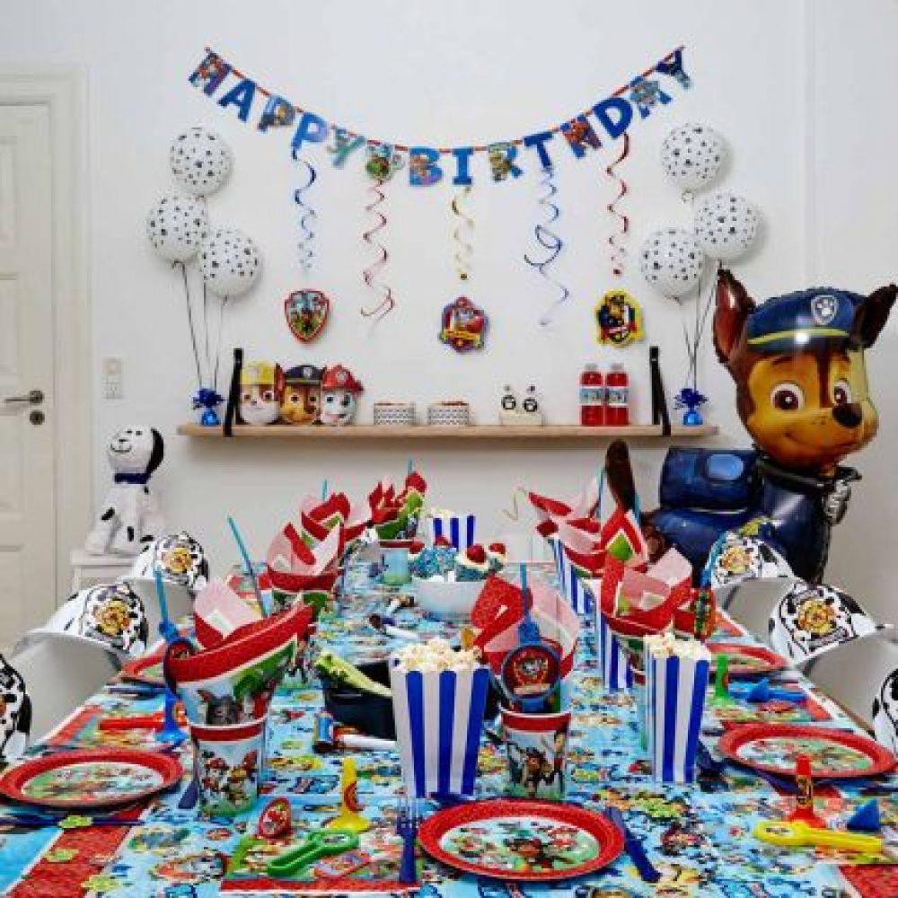 paw patrol bordpynt paw patrol børnefødselsdag paw patrol temafest fødselsdag