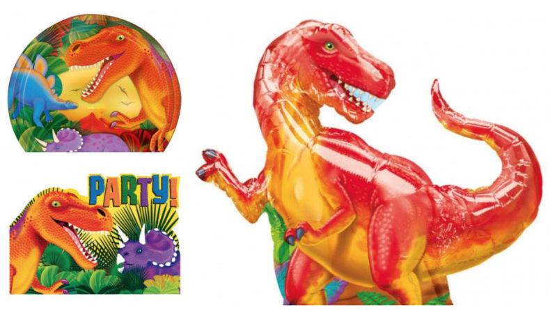 Borddækning til Dinosaur fødselsdag