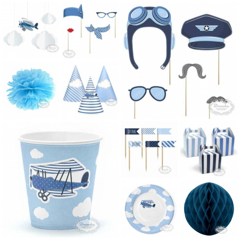 lyseblå fødselsdagstema blåt fødselsdagstema flymaskine fødselsdagstema fødselsdagsdekoration flyvemaskiner blå flyvemaskine temafest drengefødselsdag