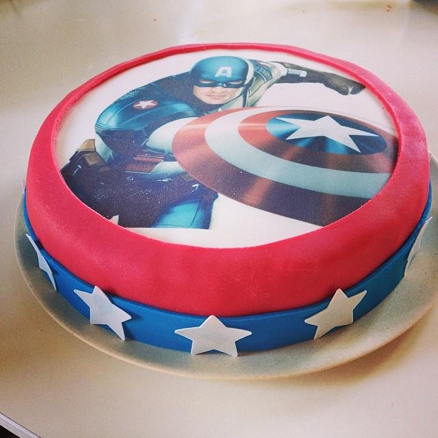 captain america lagkage nem avengers kage