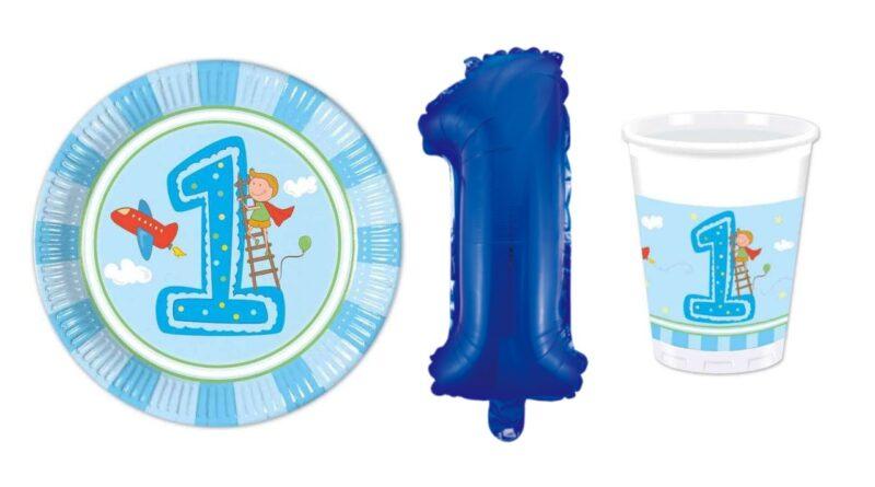 1 års fødselsdag blå lyseblå tema 1 årig fødselsdag vuggestue fødselsdag