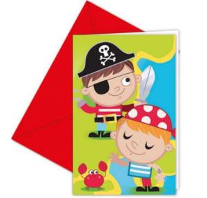 pirat invitationer børnefødselsdag